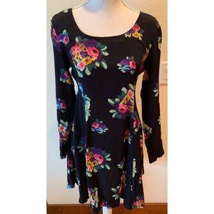 Betsey Johnson Long Sleeve Floral Dress, Medium